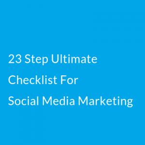 Social media checklist - digital marketing